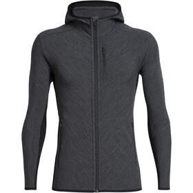 Icebreaker Descender LS Zip Hood Herre Jet Heather/Black